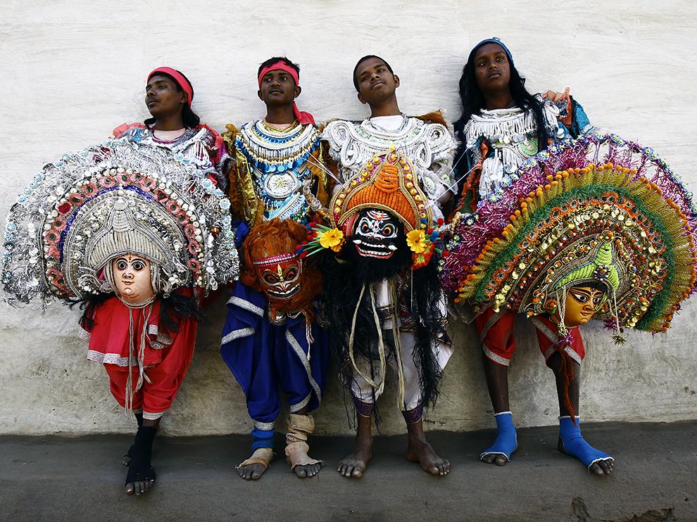 Танцоры Чау, Индия
